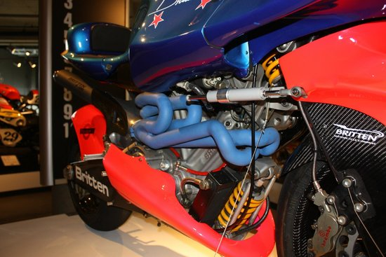 Barber Vintage Motorsports Museum: Britten!! Nothing more to say....