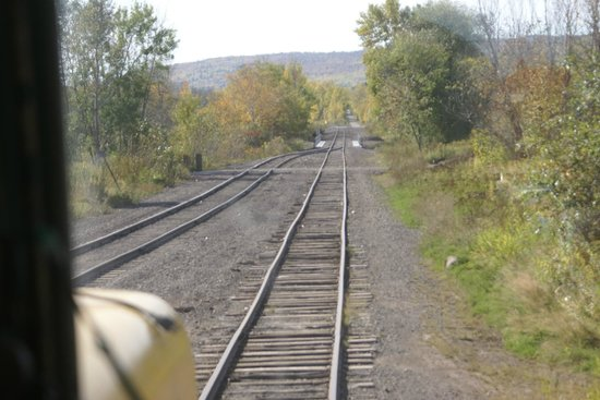 Lake Superior & Mississippi Railroad : View from the cab.