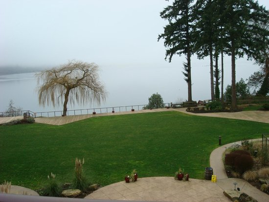 Clearwater Casino Resort: foggy day view