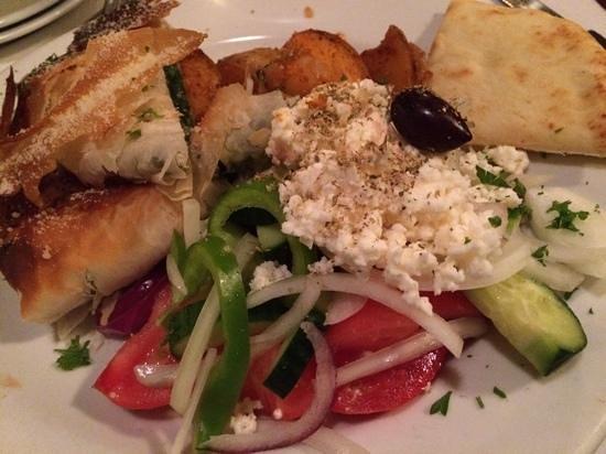 The Olive Grove : Yummy spanokopita.