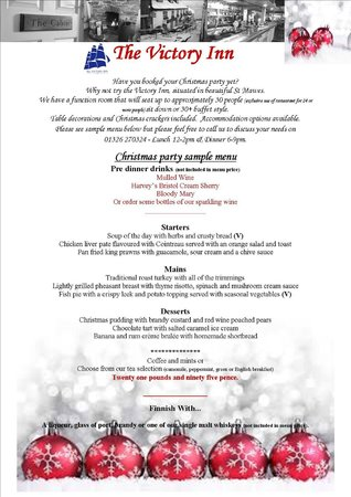 Victory Inn: Our Christmas party menu