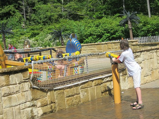 Story Land: You get really wet whether on the boat or shore