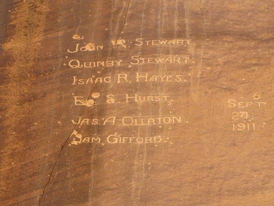 Capitol Gorge Trail: Pioneer signatures