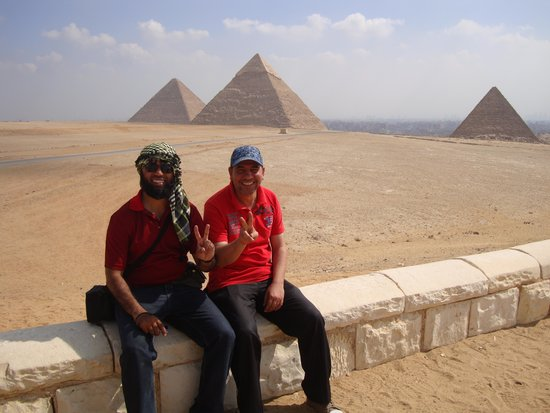 Egypt Tours by Abdo El-Lahamy Private Tour Guide: Abdo with me at Giza
