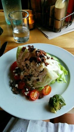 Prohibition Pig: Crisphead Salad: iceberg wedge, blue cheese, bacon, Ranch dressing, etc.