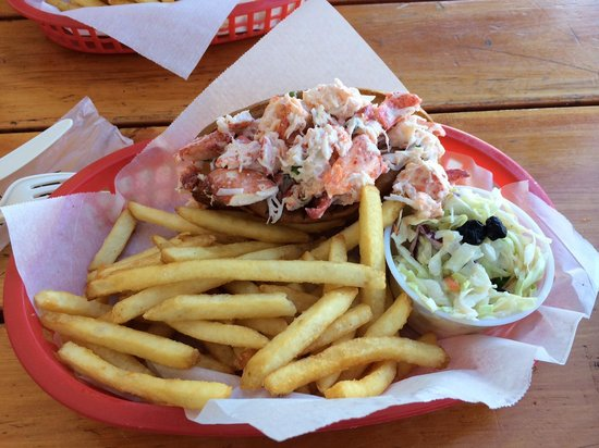 Old Port Lobster Shack : Lobster roll with fries