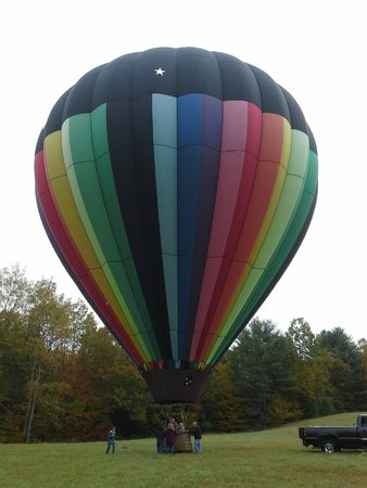 Balloons Over New England - Private Flights: after a gentle, safe landing!