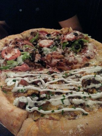 Mellow Mushroom: Our half and half pizza