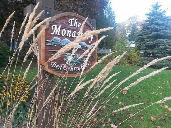 Monastery Bed & Breakfast: The sign