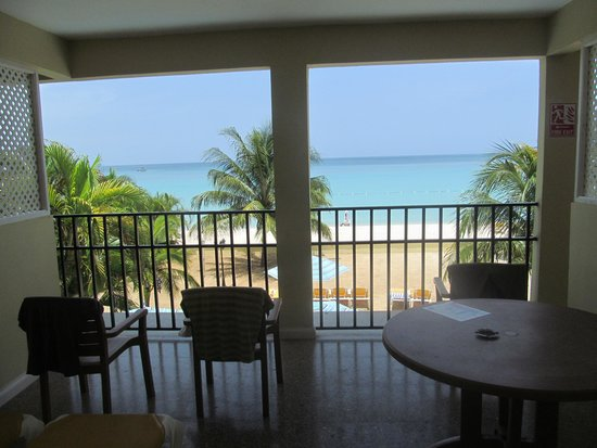 SuperClubs Rooms on the Beach Negril : looking out at our terrace from inside our room