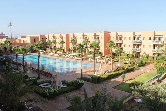 Vu de la chambre sur la piscine picture of hotel les - Hotel les jardins de l agdal marrakech ...