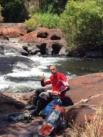 Trail Bike Adventures: Lunch at river