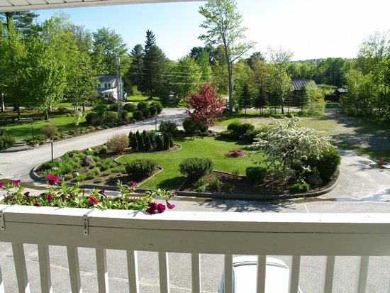 Wilton, ME: View of front lawn from 2nd floor guest room