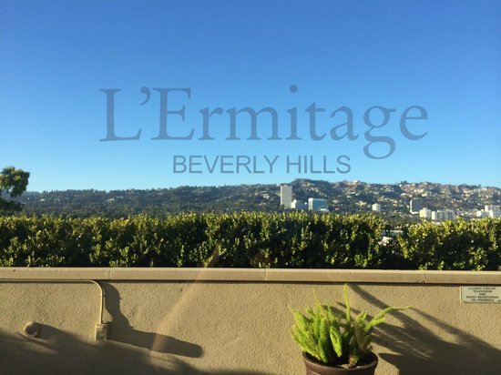 Viceroy L'Ermitage Beverly Hills: Rooftop Poolside View