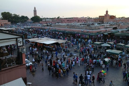 Le Marrakchi: 3rd floor view of Jemaa el Fna