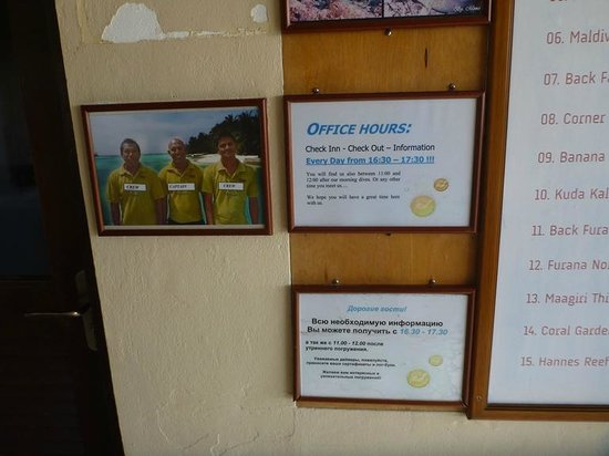 Euro Divers at Kurumba Maldives: Staff and opening hours