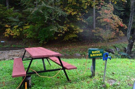 Moonshine Creek Campground: Rock Bridge tent site