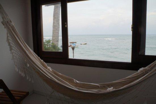 Pousada Agua Viva: Varanda do quarto LAGOSTA, com vista para a 3ª praia