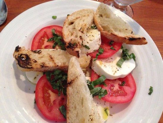 Damariscotta River Grill: Fresh mozzarella and tomato salad.