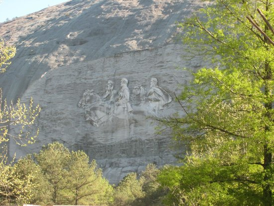 Stone Mountain Carving: Carving on the mountain