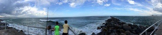 Lighthouse Point Park: Windy day.