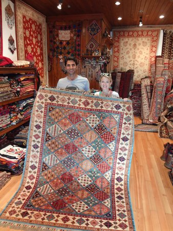 Sultan Carpet and Kilim : Osman and one of our carpets.