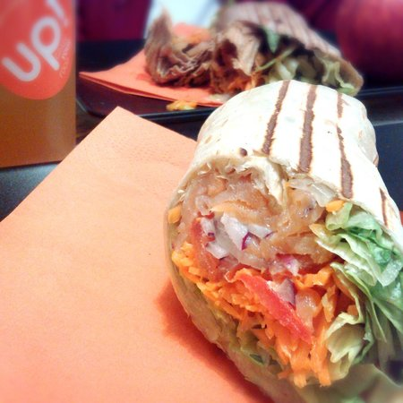 UP! Grade Your Food: salmon & the asian wrap