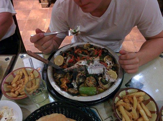 Nes Ammim, Israel: Denis fish with vegetables