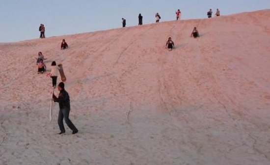 Scarborough Beach: Sand dune slides - seems easy but not ...