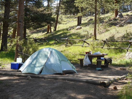 Aspenglen Campground, Rocky Mountain National Park: La nostra piazzola