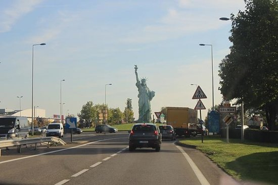 Colmar, France: Statue of Liberty general view