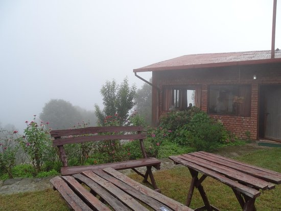 The Misty Mountains: Bathed in mist -- Our cottage