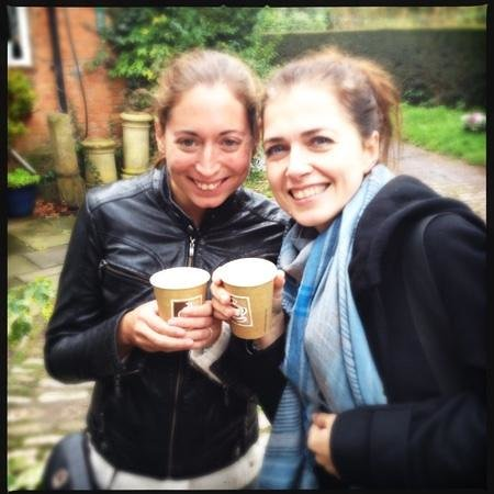 Newnham, UK: Enjoying our mulled cider on arrival