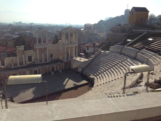Plovdiv Roman Theatre: Photo from upside
