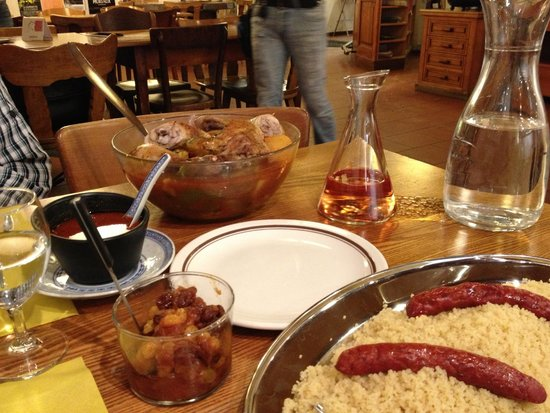 Cafe du Soleil: Couscous served with tasty sausages