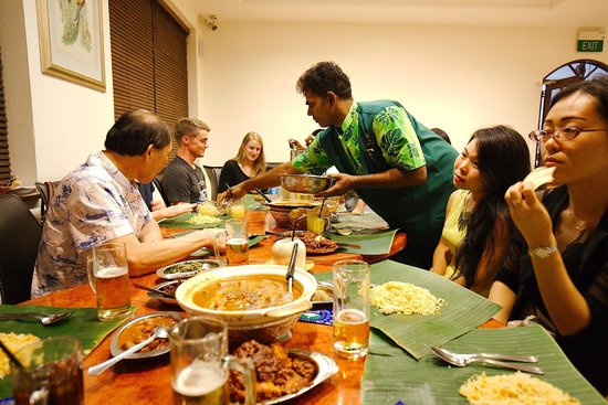 Eating On Banana Leaves Picture Of Samy S Curry
