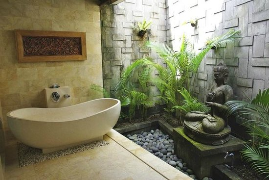 Ubud Bungalow: une salle de ban des chambres deluxe