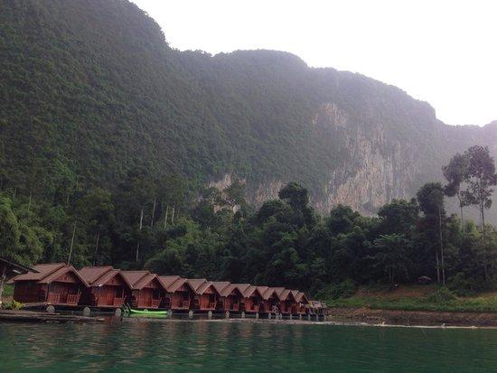 Saichol Resort: Saichon floating resort on a foggy morning