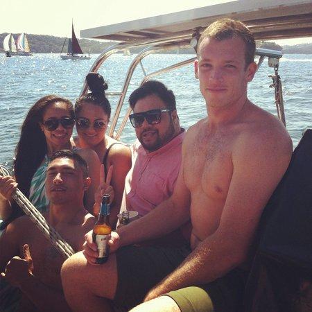 Fun day on Champagne Sailing Sydney