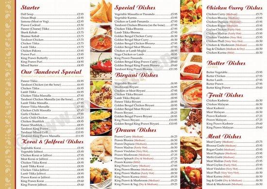 Inside restaurant golden bengal tandoori oxted f nyk pe for Arman bengal cuisine dinas menu