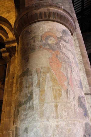 St John the Baptist's Church: Column detail with masonry marks