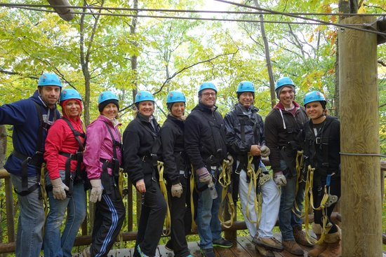 Wildwood Rush Zip Line Canopy Tour: Our Zipping group