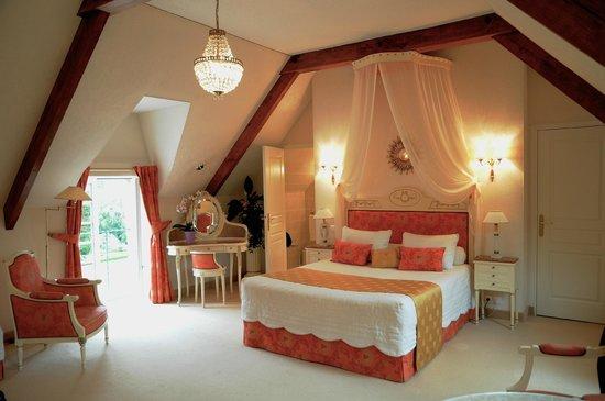 Chateau-Hotel Manoir de Kertalg : Une des chambres