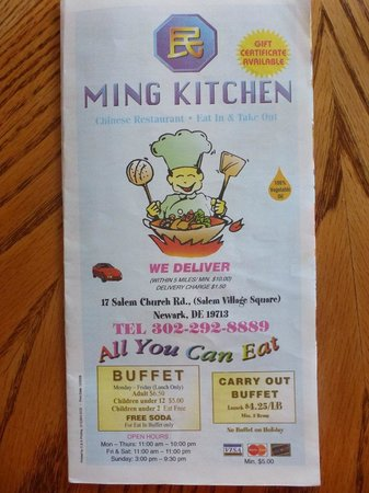 Ming Kitchen Menu