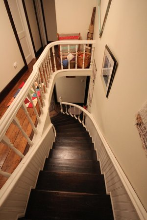 Quintal House Heritage Guest Home: Looking down from upstairs