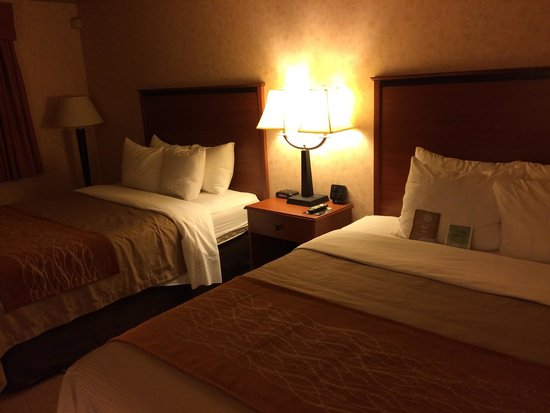 Comfort Inn Butte: The double queen room.