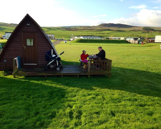 Machrihanish Holiday Park: Wig wam brekkie!