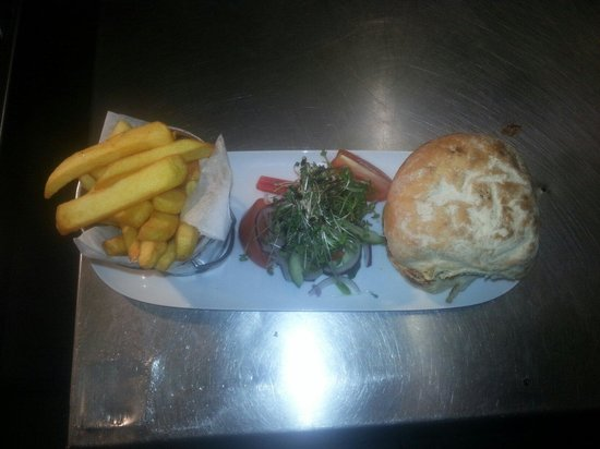 The Cornloft Restaurant : Buttermilk chicken fillet burger