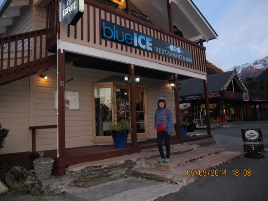 Front of Blue Ice Cafe