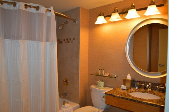 DoubleTree by Hilton Hotel & Suites Jersey City: Clean bathroom.